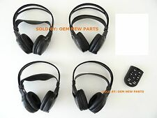 FORD MERCURY 4 (Four) Wireless DVD Infrared Headphones Headset with Remote