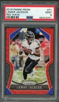 Lamar Jackson Baltimore Ravens 2019 Panini Prizm Red Wave Card #71 PSA 9 65/149