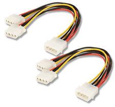 2 PCS. NEW Molex Hard Drive Power Splitters 4 pin Qty: 1 Pair   **USA SELLER**