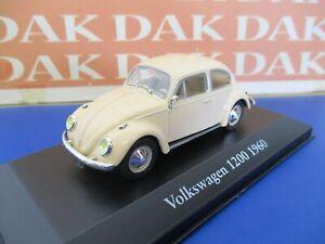Die cast 1/43 Modellino Auto Volkswagen Maggiolino 1200 1960
