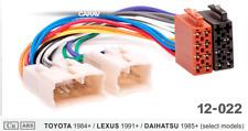 Passend für TOYOTA Avensis Starlet Supra Yaris ISO DIN Radioadapter Kabelbaum