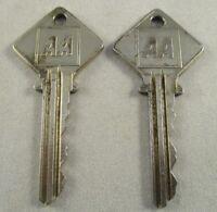 Vintage Retro AA Yale Keys - 1970's