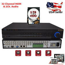 32 Ch Channel Home Professional Security DVR Recorder 960H Full D1 HDMI 2TB HDD