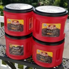 4 EMPTY Folgers Plastic Coffee Canisters With Lids Workshop Crafts Storage 24 Oz
