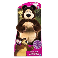 "Masha And The Bear 12"" Super Soft Cuddling Plush Bellowing Bear Snuggle Bedtime"