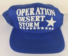 Vintage Operation Desert Storm Trucker Hat Blue Mesh Snapback USA Military