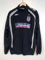 Vintage Mens Umbro England Pull Over Long Sleeve Size Large