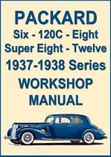 PACKARD 1937-1938, SIX, ONE TWENTY, EIGHT, SUPER EIGHT & TWELVE WORKSHOP MANUAL