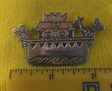 Noah's ArkBrooch Pin Vintage Oefs Sterling Silver