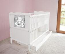 Babybett Kinderbett -Juniorbett 120x60 Weiß  3x1 + Schublade + Matratze c