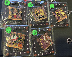 Nightmare Before Christmas HKDL Glow In The Dark Hongkong Disney Pins LE 400-600