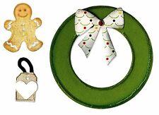 Sizzix Bigz Wreath die #658186 Retail $19.99 bonus Gingerbread Embosslits