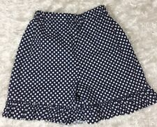 NWOT Lolly Wolly Doodle Size 7 SHORTS BOUTIQUE blue white polka dot ruffle NEW