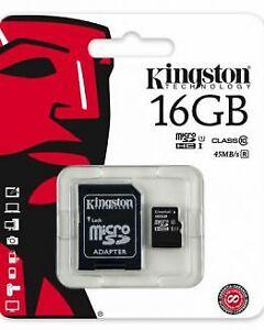 KINGSTON MICRO SD CARD CLASS 10 32GB, NEW, SEALED
