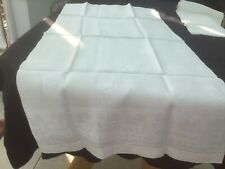 Vintage White Jacquard Linen Table Runners 54x 115x2 Pansies Pattern