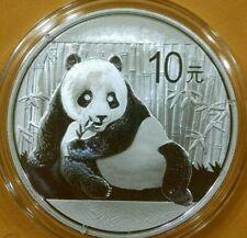 2015 1 oz. China Silver Panda 10 Yuan Chinese Bullion Coin (In Capsule) *MINT*