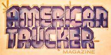 1970's 80's AMERICAN TRUCKER MAGAZINE truck vTg Orig t-shirt iron-on NOS UNUSED