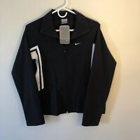 Nike Womens Size Small (4-6) Navy Blue White ZIP Up Jacket 2006