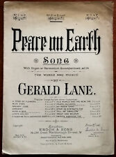 Peace On Earth by Gerald Lane – Pub. 1901