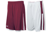 UNDER ARMOUR Undeniable Reversible Basketball Shorts MENS SIZE L MAROON WHITE
