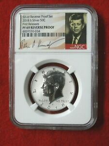 2018 S *FIRST RELEASES* KENNEDY REVERSE  PRF PF69  SILVER HALF DOLLAR  ITEM #034