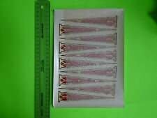 VINTAGE BIKE BICYCLE OLD SCHOOL WATER FORK DECALS RED AND GOLD 10 ARROWS RARE