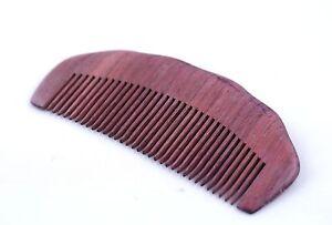 Natural Anti-static Violet Sandal Wood Hair Pocket Comb Message Travel Comb