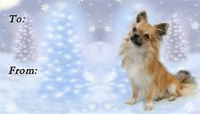 Chihuahua Christmas Labels by Starprint - No 2