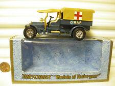 MATCHBOX LESNEY YESTERYEAR Y13 TAN Roofs 1918 CROSSLEY RAF TENDER CHROME 12 Whls