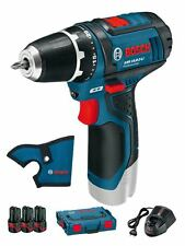 Bosch GSR 10,8 2 V-LI Professional + 3 Akku 2,0 Ah 3165140737890  0615990FA2