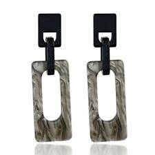 Acrylic Drop Earrings For Women Leopard Print Irregular Geometry Pendant Jewelry