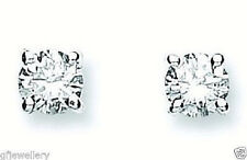 18CT HALLMARKED  WHITE GOLD 0.25CTS G/H SI1 DIAMOND SOLITAIRE STUD EARRINGS