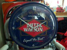 Dietz & Watson Premium Meats and Chesses Wall Clock