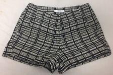 Women's RO&DE Black White Printed Flat Front Mini Casual Shorts Small
