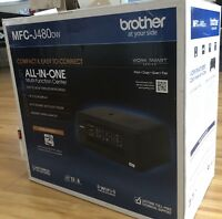 New Brother Wireless Inkjet All-In-One Printer/Copier/Scanner/Fax MFC-J480DW