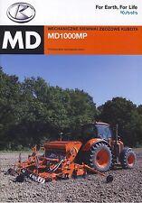 Kubota MD100MP  2014 catalogue brochure semoir seed drill