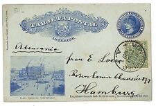 S283 1907 Uruguay *MONTEVIDEO* Hamburg Germany Postal Stationery Cover PTS