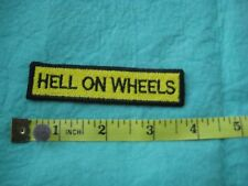 Hell On Wheels Motorcycle Jacket  Hat Patch