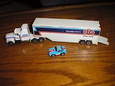"7 1/4"" long Richard Petty STP Semi Tractor RC Nascar Trailer w Car Free Shipping"