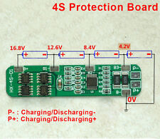 PCB BMS Protection Board for 4 Packs 18650 Li-ion lithium Battery Cell 4S 4A-5A