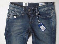 G-star Raw Women 3301 Skinny Jeans 24 W x 30 Rugby Wash Brand New with Tags
