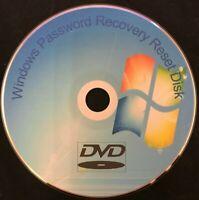 Windows 7 8 10 PC Laptop Password Recovery Remove Reset Utillity Disc FREE P&P