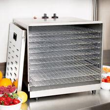 Avantco Ten Rack Stainless Steel Food Dehydrator with Removable Door - 1000W