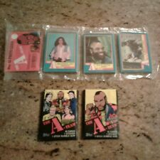 Vintage A-Team 1 Rack Pack (Open Seam) And 2 Unopened Wax Packs