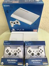 Sony Playstation 3 Super Slim PS3 500GB White Fernbedienung 2 Controller