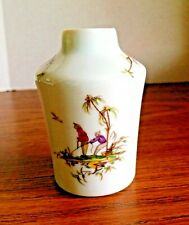 Gorgeous RAYNAUD & CO LIMOGES Miniature Vase Asian Couple Fishing Themed Motif
