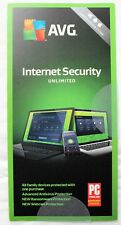 AVG Technologies AVG Internet Security 2018 Unlimited Devices 1 Years [Key Card]