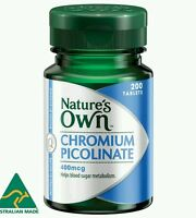Nature's Own Chromium Picolinate 400mcg 200 Tablets - OzHealthExperts