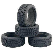 26mm Rubber Tire Set for 1/10 On-road Rc Car 4pieces Tamiya TT01 TT02 TT01E TL01