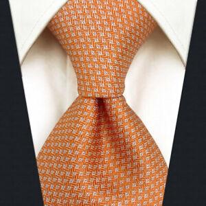 S&W SHLAX&WING Mens Ties Set Solid Color Neckties for Men Orange